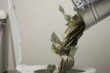 soldi al cesso
